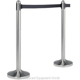 American Metalcraft RSRTBK Crowd Control Stanchion (Portable)