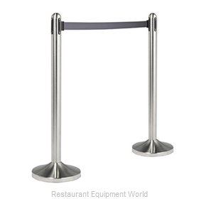 American Metalcraft RSRTGY Crowd Control Stanchion Portable