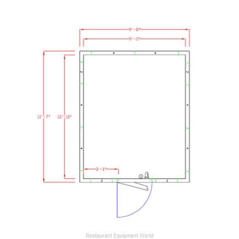 American Panel Corporation 10X12C-O Walk In Cooler, Modular, Remote