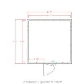 American Panel Corporation 12X12F-O Walk In Freezer, Modular, Remote