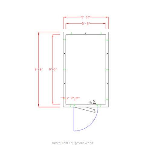 American Panel Corporation 6X10F-O Walk In Freezer, Modular, Remote