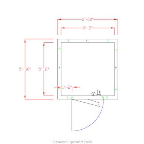 American Panel Corporation 6X6F-O Walk In Freezer, Modular, Remote