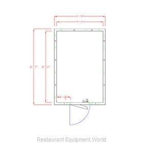 American Panel Corporation 8X12F-O Walk In Freezer, Modular, Remote