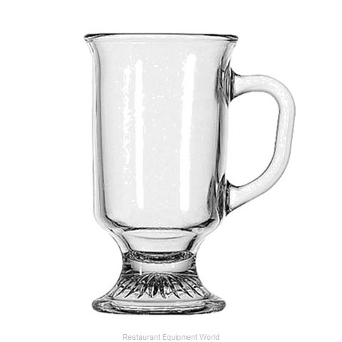 Anchor Hocking 308U Mug, Glass, Coffee (Magnified)