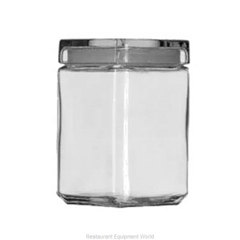 Anchor Hocking 85588R Storage Jar / Ingredient Canister, Glass (Magnified)