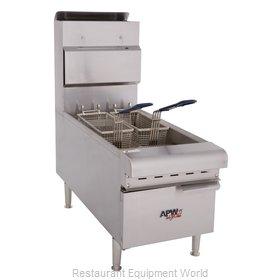 APW Wyott APW-F25C Fryer, Gas, Countertop Full Pot