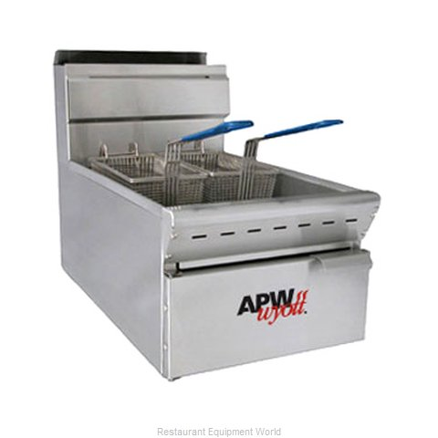 APW Wyott APWF-25C Fryer Counter Unit Gas Full Pot