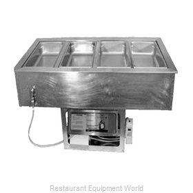 APW Wyott CHDT-4 Hot / Cold Food Well Unit, Drop-In, Electric