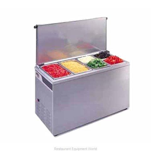 APW Wyott CTCW-43 Refrigerated Countertop Pan Rail