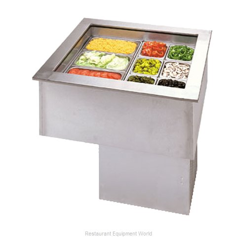APW Wyott CW-2 Cold Food Well Unit, Drop-In, Refrigerated