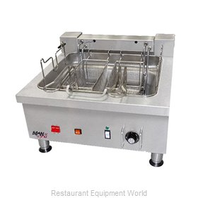 APW Wyott EF-30INT Fryer, Electric, Countertop, Split Pot