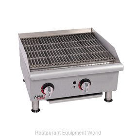 APW Wyott GCB-18I-CE Charbroiler, Gas, Countertop