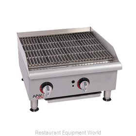 APW Wyott GCRB-18I-CE Charbroiler, Gas, Countertop