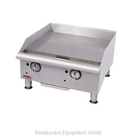 APW Wyott GGM-24I Griddle, Gas, Countertop