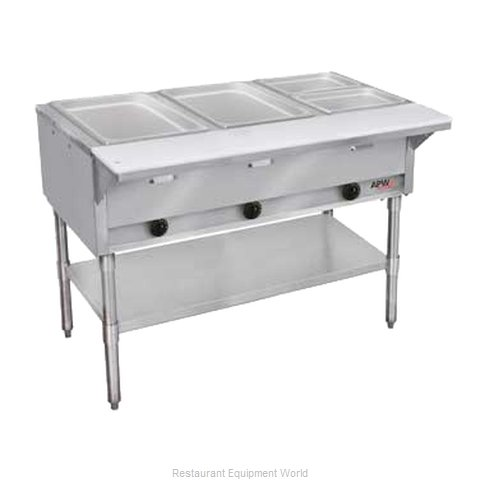 APW Wyott GST-3S-NG Serving Counter Hot Food Steam Table Gas