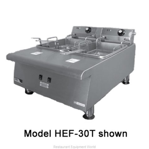 APW Wyott HEF-30 Fryer Counter Unit Electric Split Pot