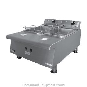 APW Wyott HEF-30TI Fryer, Electric, Countertop, Split Pot