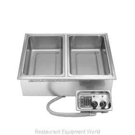 APW Wyott HFW-2 Hot Food Well Unit, Drop-In, Electric