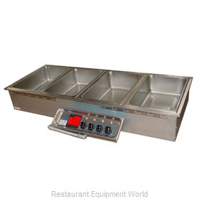 APW Wyott HFW-4 Hot Food Well Unit, Drop-In, Electric