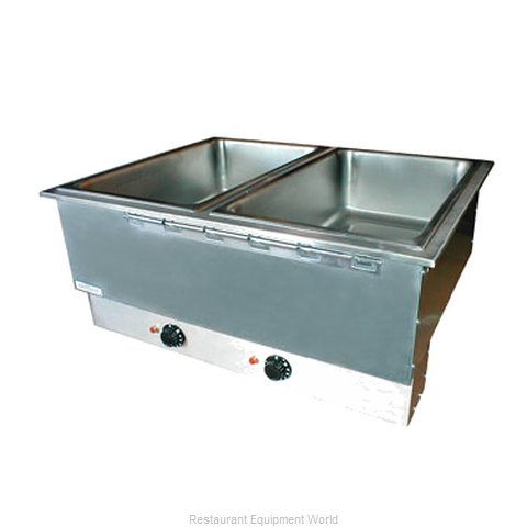APW Wyott HFWAT-3D Top Mount hot food wells with attached control