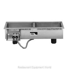 APW Wyott HFWS-2D Hot Food Well Unit drop in slime line with drain