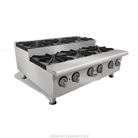 APW Wyott HHPS-636 Hotplate Counter Unit Gas