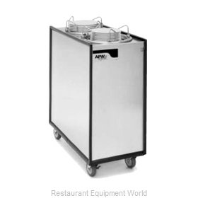 APW Wyott HML2-12A Heated Enclosed Mobile Plate Dispenser