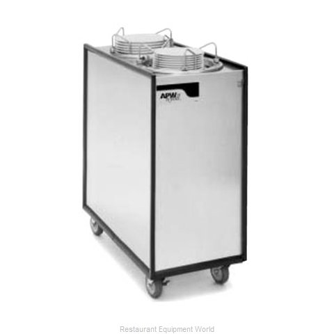 APW Wyott HML2-6 Heated Enclosed Mobile Plate Dispenser