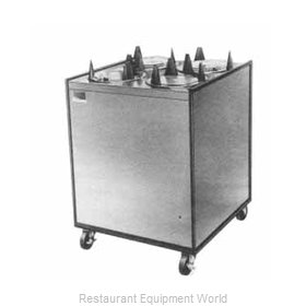 APW Wyott HML4-5 Heated Enclosed Mobile Plate Dispenser