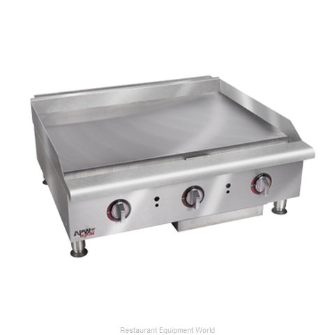 APW Wyott HTG-2424 Griddle Counter Unit Gas (Magnified)