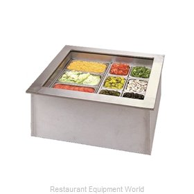APW Wyott ICP-100 Cold Food Well Unit, Drop-In, Ice-Cooled