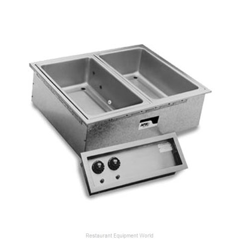 APW Wyott SHFWEZ-2D Hot Food Well Unit Electric Drop-In Top Mount (Magnified)