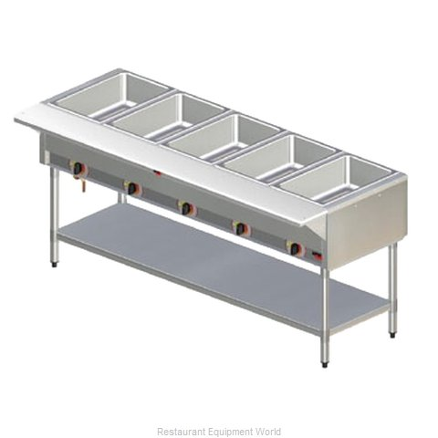 APW Wyott SST-5S Serving Counter Hot Food Steam Table Electric