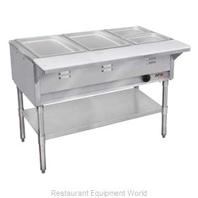 APW Wyott WGST-2-NG Serving Counter Hot Food Steam Table Gas