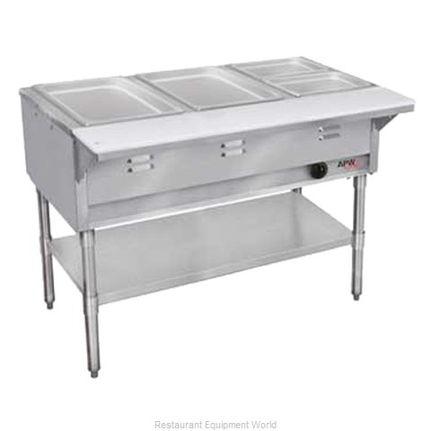 APW Wyott WGST-3S-NG Serving Counter Hot Food Steam Table Gas