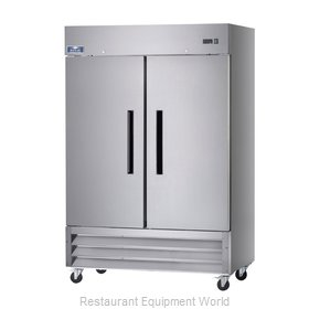 Arctic Air AF49 Solid Door Stainless Steel Reach-In Freezer