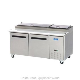 Arctic Air APP71R Refrigerated Counter, Pizza Prep Table