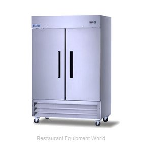 Arctic Air AR49 Solid Door Stainless Steel Refrigerator
