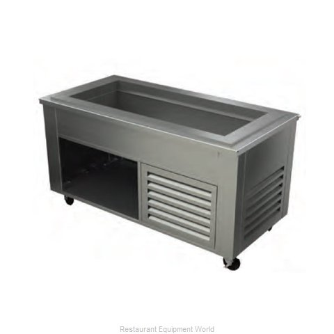 Alluserv ACF9C3 Serving Counter Cold Pan Salad Buffet