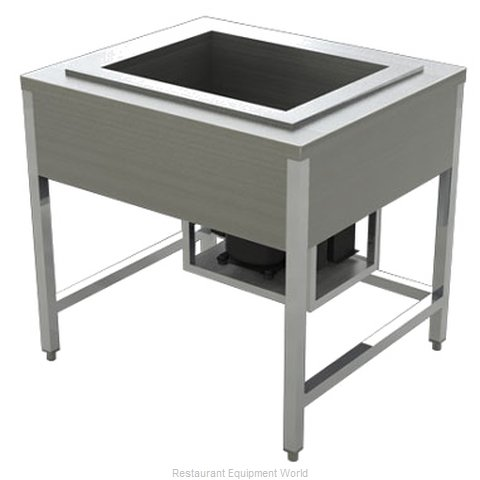 Alluserv AECF4 Serving Counter Cold Pan Salad Buffet