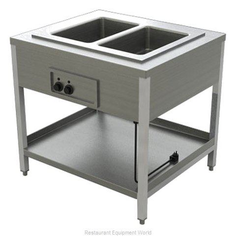 Alluserv AEHF2 Serving Counter Hot Food Steam Table Electric