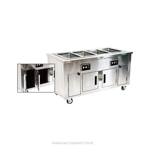 Alluserv AHF3HIB Serving Counter Hot Food Steam Table Electric
