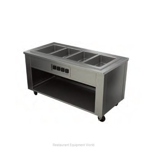 Alluserv AHF6 Serving Counter Hot Food Steam Table Electric