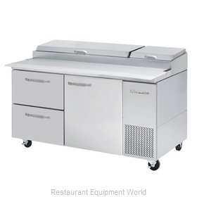 Blue Air Commercial Refrigeration BAPP67-D2L-HC Refrigerated Counter, Pizza Prep