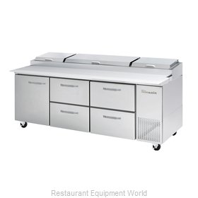 Blue Air Commercial Refrigeration BAPP93-D4RM-HC Refrigerated Counter, Pizza Pre