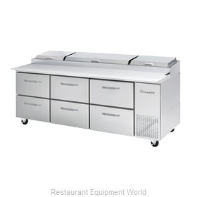 Blue Air Commercial Refrigeration BAPP93-D6-HC Refrigerated Counter, Pizza Prep