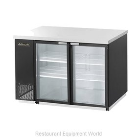 Blue Air Commercial Refrigeration BBB59-2SG Back Bar Cabinet, Refrigerated