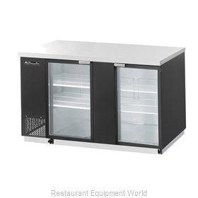 Blue Air Commercial Refrigeration BBB69-3SG Back Bar Cabinet, Refrigerated
