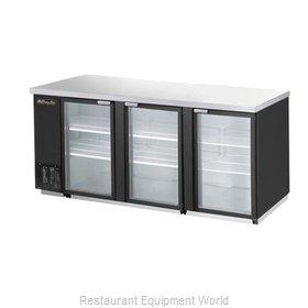 Blue Air Commercial Refrigeration BBB90-4BG Back Bar Cabinet, Refrigerated