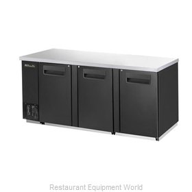 Blue Air Commercial Refrigeration BBB90-4S Back Bar Cabinet, Refrigerated